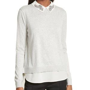 Ted Baker London embellished collar sweater